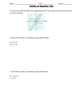 System of Equations Assessment