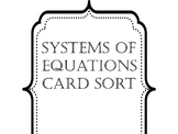 System of Equations Card Sort