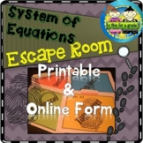 System of Equations Escape Room Activity