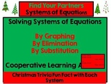 System of Equations - Find Your Partners Activity (Christmas Trivia Fun Facts)