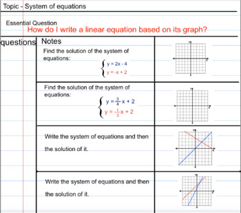 Systems of Equations Lesson 2 - Graphing Method