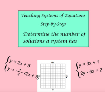 System of Equations Lesson 4 - Determine number of solutions