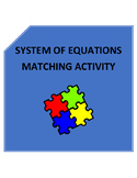 System of Equations Matching Activity