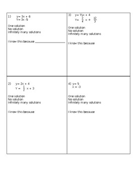 System of Equations Number of Solutions