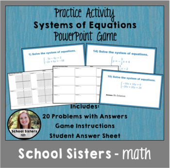 System of Equations Paper Toss Game
