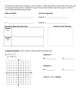System of Equations Review