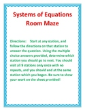System of Equations Room Maze