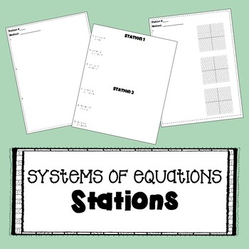 System of Equations - STATIONS