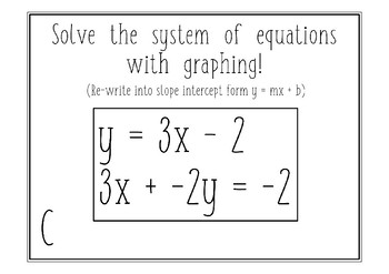 System of Equations - Stations Activity