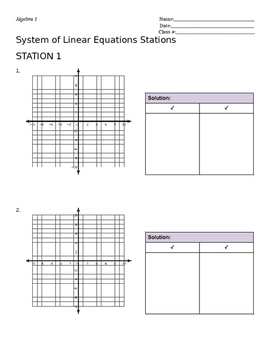 System of Equations Stations