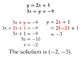 System of Equations Substitution