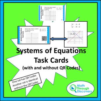 System of Equations Task Card Bundle