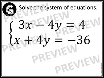 Solving Systems of Equations Task Cards and Notes Foldable