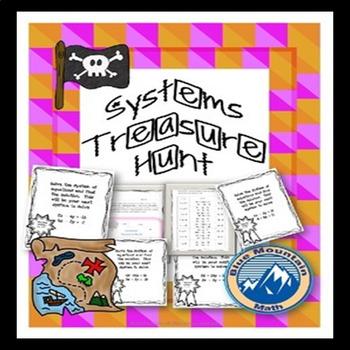 System of Equations Treasure Hunt