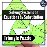 Solving Systems of Equations by Substitution Triangle Puzzle