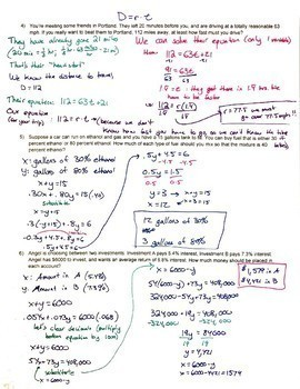 System of Equations Word Problems MORE! - Algebra II Trig Ch1.2 Day 2 Hw3