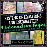 System of Equations and Inequalities Interactive Notebook Page Bundle