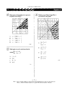 System of Equations and Inequalities Test, Algebra 2
