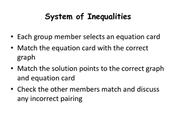 System of Inequality Match