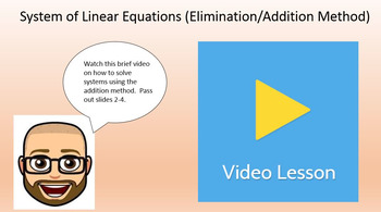 System of LInear Equations (Addition Method) - PowerPoint and Printables