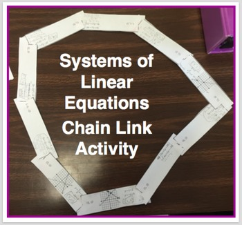 System of Linear Equations Chain Link Activity