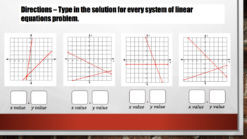 System of Linear Equations – Digital Interactive Notebook for Google Classroom