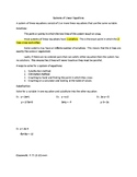 System of Linear Equations Guided notes