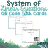 System of Linear Equations QR Code Task Cards