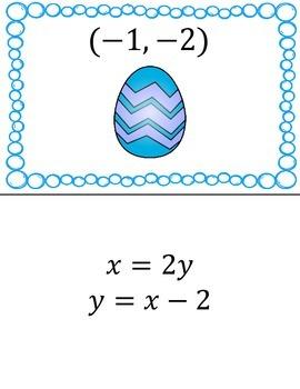 System of Linear Equations Scavenger Egg Hunt