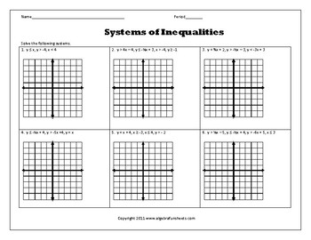 Graphing Systems of Linear Inequalities Worksheet by Algebra Funsheets