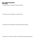 System of equations/simultaneous equation word problems