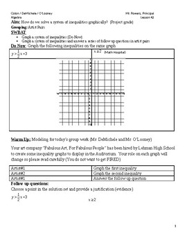 System of inequalities project - groups of 2 (homogeneous grouping)