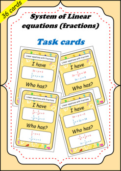System of linear equations Fractions (fractions) task ...