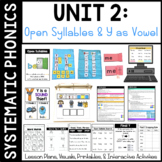 Systematic Phonics 2: Open Syllables