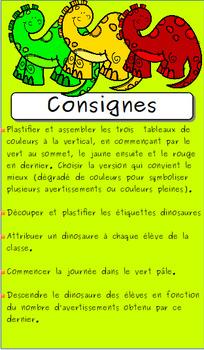 Système de gestion de classe:  les dinosaures
