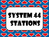 Systems 44 stations labels- Super Hero Theme