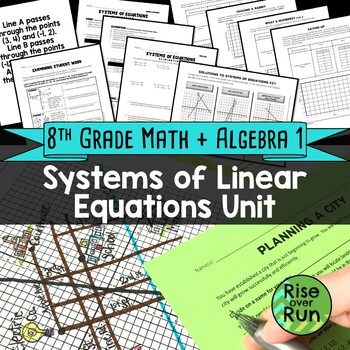 Systems of Equations Bundle of Activities, Common Core