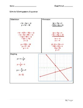 Systems, Exponents and Polynomials Formative Assessments