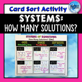 Systems: How many solutions? Card Sort Cut & Paste Activity
