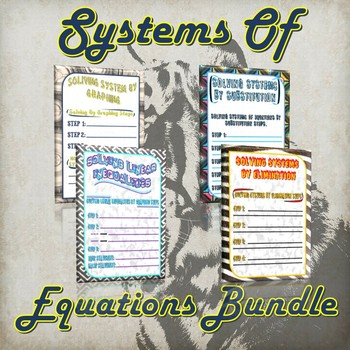 Systems Of Equations Bundle - (Guided Notes and Practice)