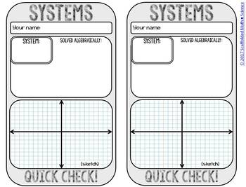 Systems Quick Check Template