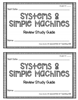 Systems & Simple Machines {Review Study Guide}
