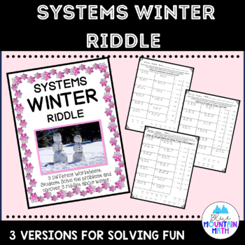Systems Winter Riddle