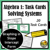 Systems of Equations Task Cards {Graphing Slope Intercept