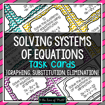 Systems of Equation Task Cards