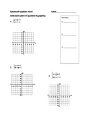 Systems of Equation Test (Form A)