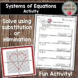 Systems of Equations Activity (Substitution or Elimination)