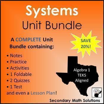 Systems of Equations Unit Bundle (A2I, A3F, A3G, A5C)