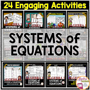 Solving SYSTEMS OF EQUATIONS Bundle