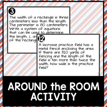 Writing and Solving Systems of Equations Perimeter Word Problems